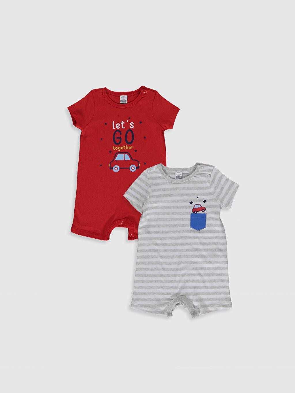 Kırmızı Erkek Bebek Baskılı Tulum 2'li 0S2520Z1 LC Waikiki