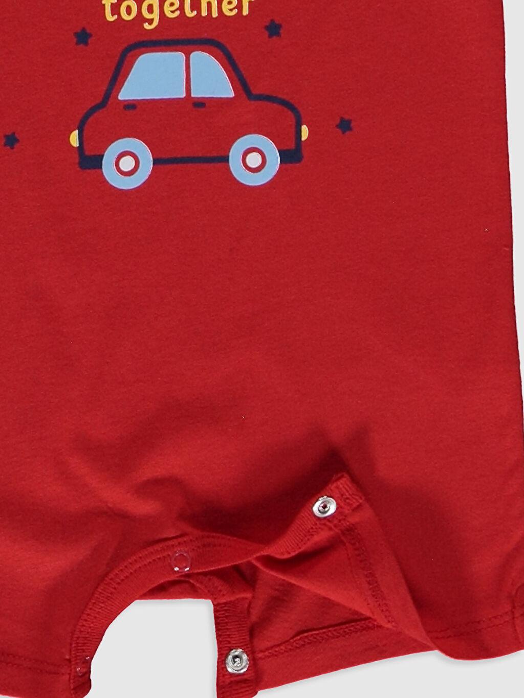 Kırmızı Erkek Bebek Baskılı Tulum 2'li
