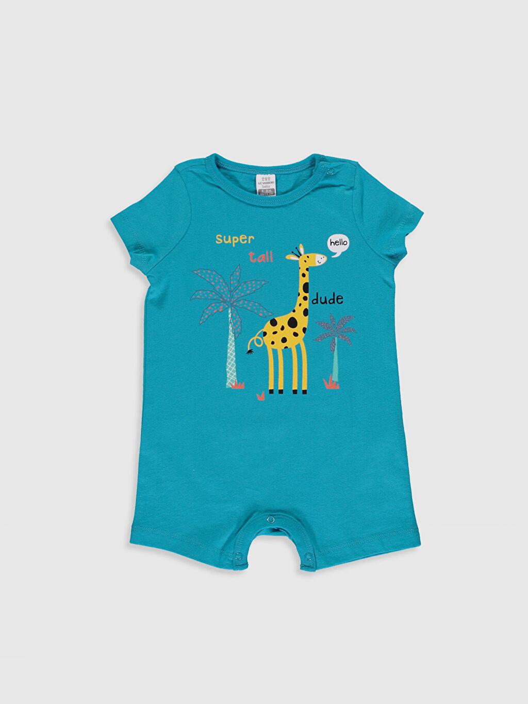 Erkek Bebek Erkek Bebek Desenli Tulum 2'li