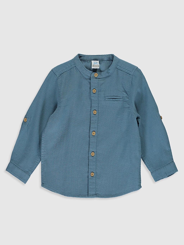 Mavi Erkek Bebek Hakim Yaka Gömlek 0S2537Z1 LC Waikiki
