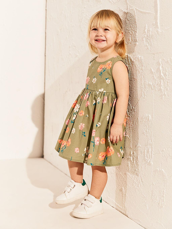 Kız Bebek Kız Bebek Poplin Elbise