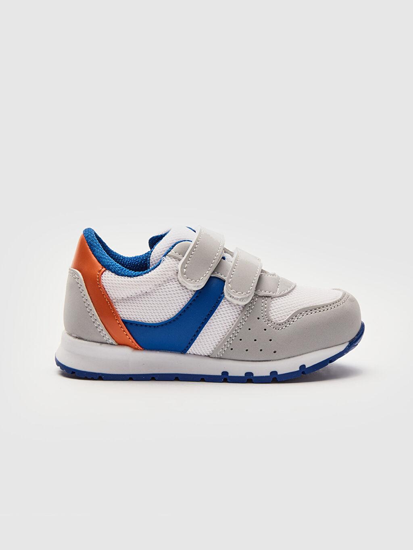 Gri Erkek Bebek Cırt Cırtlı Günlük Spor Ayakkabı 0S2685Z1 LC Waikiki