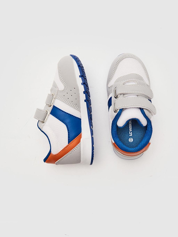 %0 Diğer malzeme (poliüretan) %0 Tekstil malzemeleri (%100 poliester)  Erkek Bebek Cırt Cırtlı Günlük Spor Ayakkabı