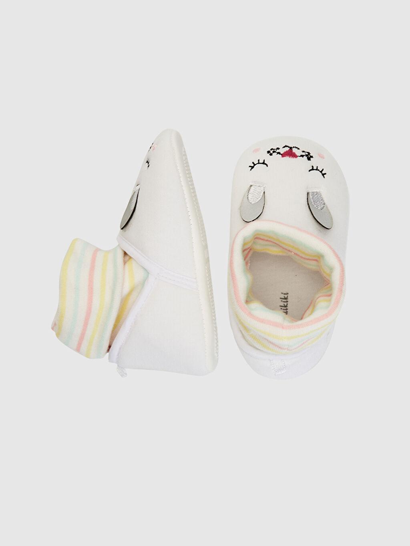 %0 Tekstil malzemeleri (%100 poliester)  Kız Bebek Çoraplı Ev Ayakkabısı