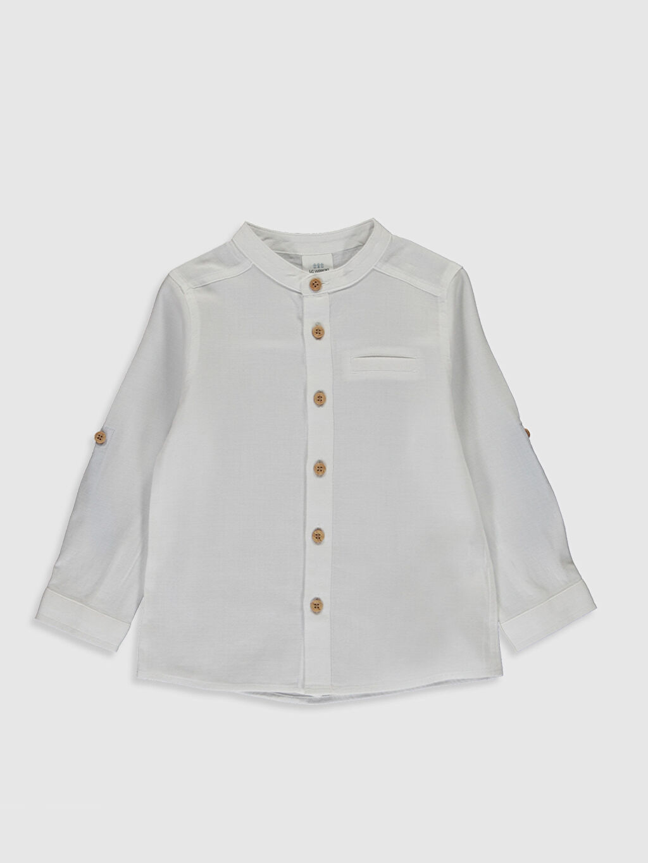Beyaz Erkek Bebek Gömlek 0S3147Z1 LC Waikiki