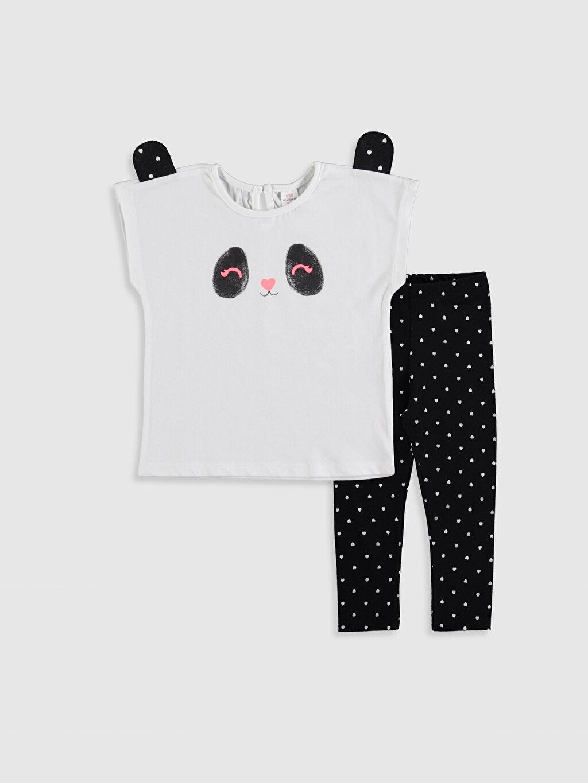 Beyaz Kız Bebek Tişört ve Tayt 2'li 0S3168Z1 LC Waikiki