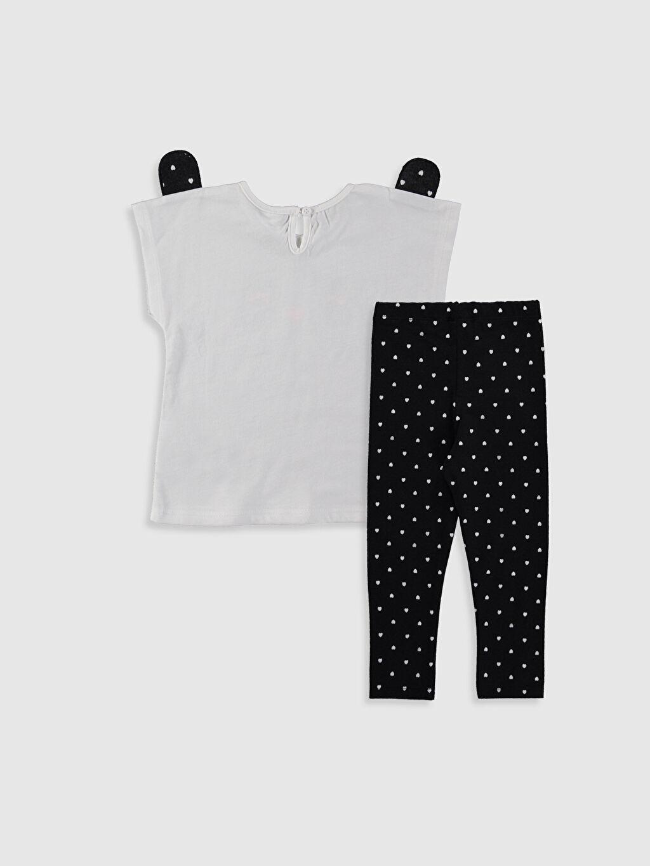 %100 Pamuk  Kız Bebek Tişört ve Tayt 2'li