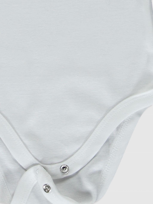 LC Waikiki Beyaz Erkek Bebek Desenli Çıtçıtlı Body 2'li