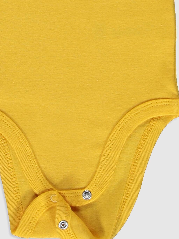 LC Waikiki Sarı Erkek Bebek Baskılı Çıtçıtlı Body 2'li