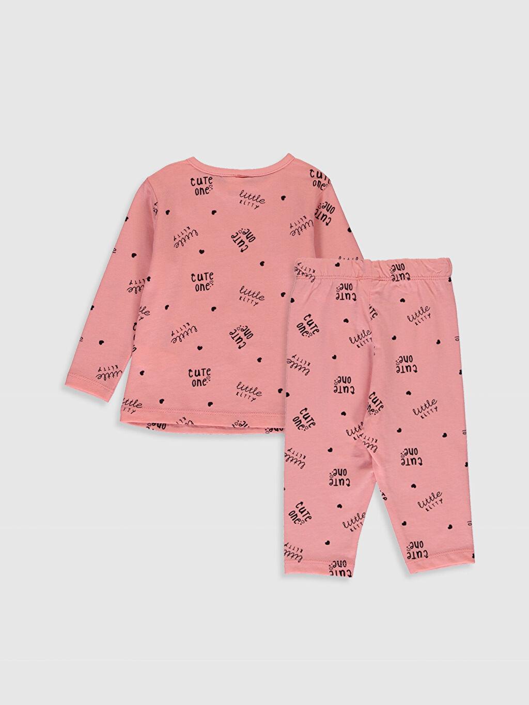 %100 Pamuk %100 Pamuk Standart Pijamalar Kız Bebek Yazı Baskılı Pamuklu Pijama Takımı