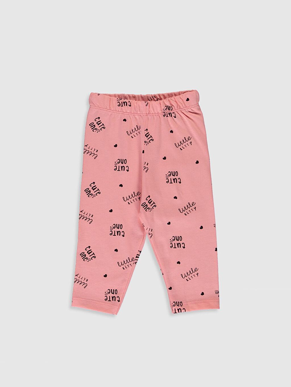 Kız Bebek Yazı Baskılı Pamuklu Pijama Takımı