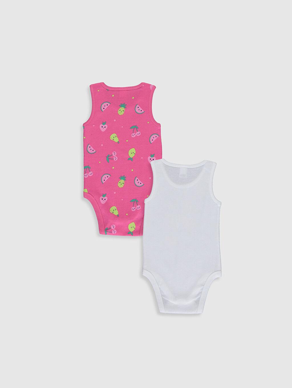 %100 Pamuk  Kız Bebek Baskılı Pamuklu Çıtçıtlı Body 2'li