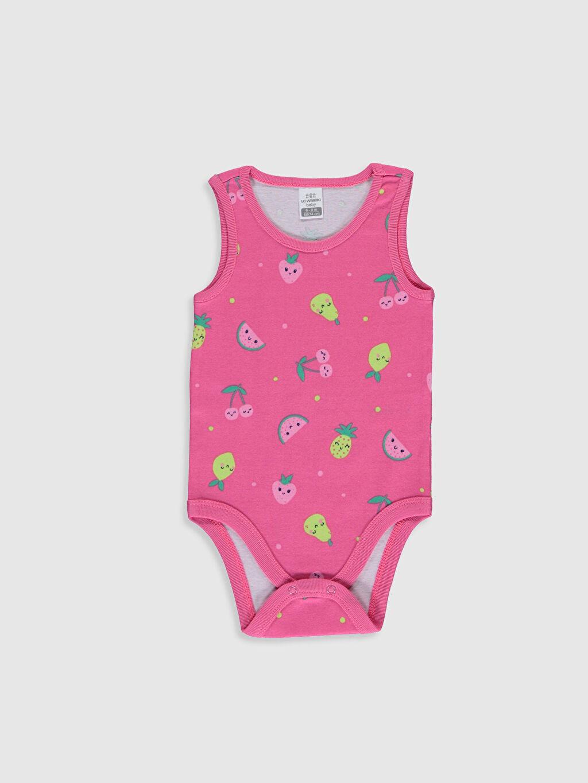 Kız Bebek Baskılı Pamuklu Çıtçıtlı Body 2'li