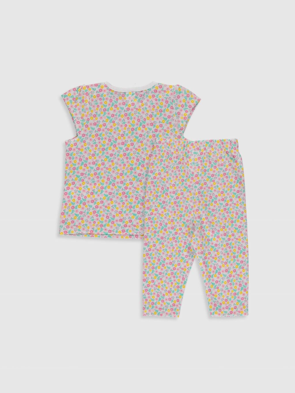 %100 Pamuk %100 Pamuk Standart Pijamalar Kız Bebek Desenli Pijama Takımı