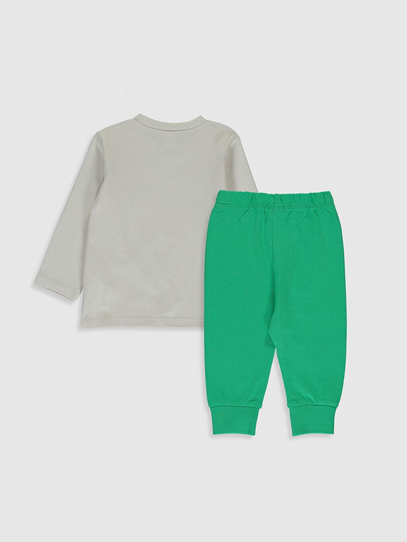 %100 Pamuk Standart Pijamalar Erkek Bebek Baskılı Pijama Takım
