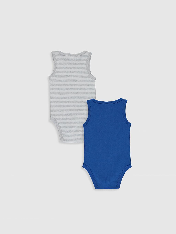 %100 Pamuk  Erkek Bebek Baskılı Pamuklu Çıtçıtlı Body 2'li