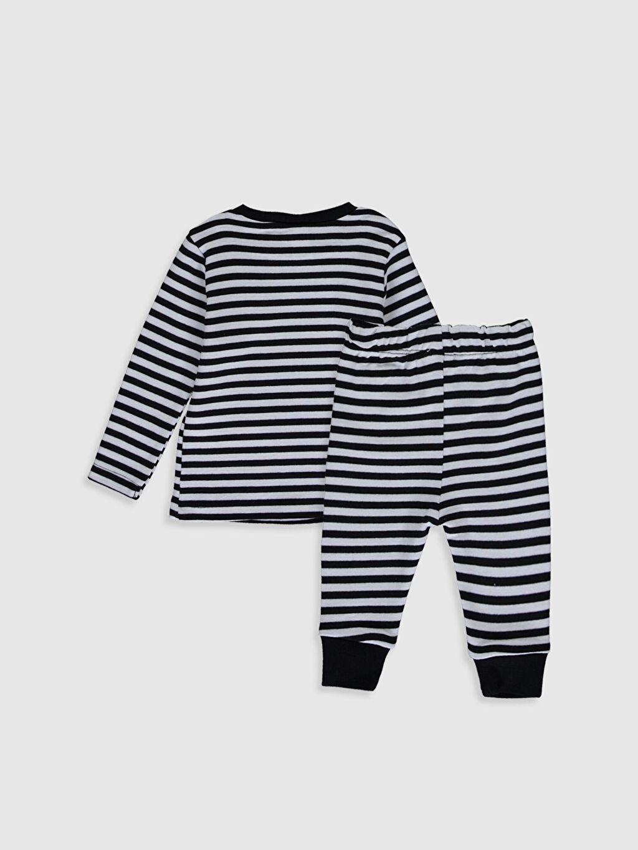 %100 Pamuk %100 Pamuk Standart Pijamalar Erkek Bebek Çizgili Pijama Takımı
