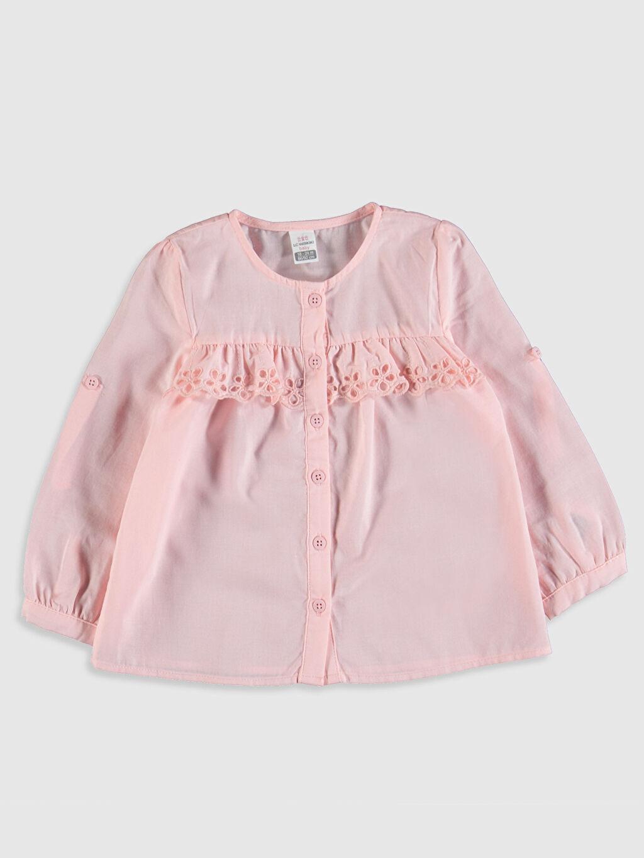 Pembe Kız Bebek Poplin Gömlek 0S3612Z1 LC Waikiki