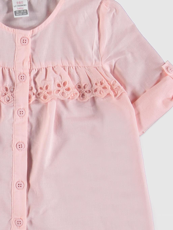 Kız Bebek Kız Bebek Poplin Gömlek