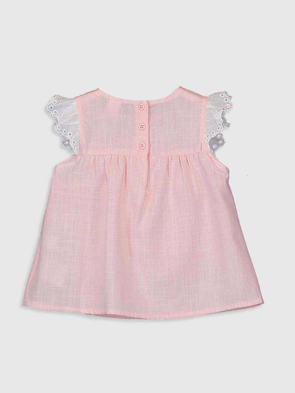 %100 Pamuk Standart Düz Kolsuz Bluz Kız Bebek Poplin Bluz