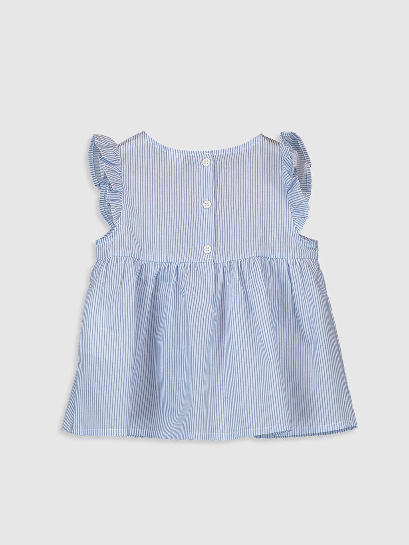 %100 Pamuk Standart Desenli Kolsuz Bluz Kız Bebek Desenli Bluz