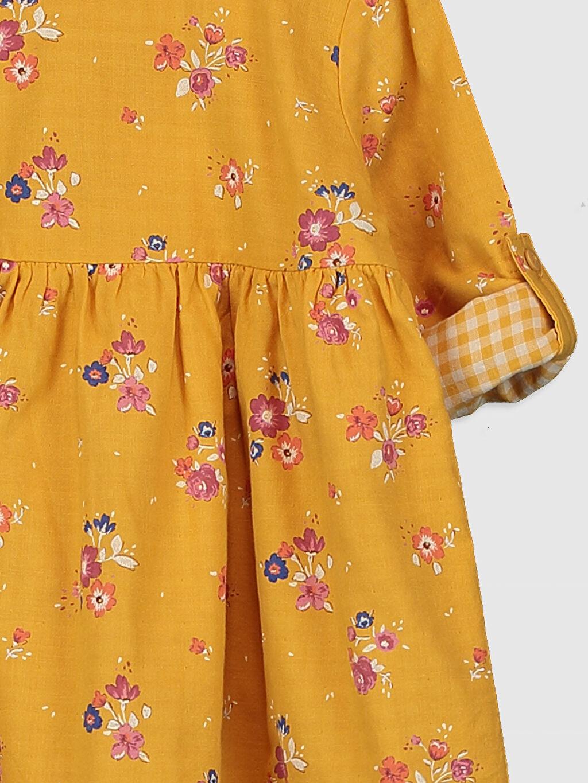 Kız Bebek Kız Bebek Desenli Elbise