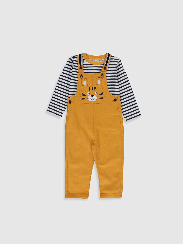 Antrasit Erkek Bebek Sweatshirt ve Salopet 0S3960Z1 LC Waikiki