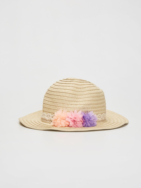 Beyaz Kız Bebek Hasır Şapka 0S4349Z1 LC Waikiki