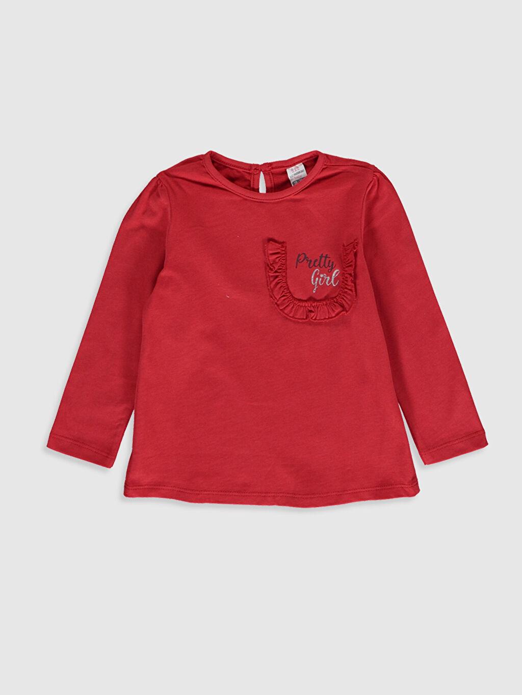 Kız Bebek Kız Bebek Desenli Pamuklu Tişört 2'li