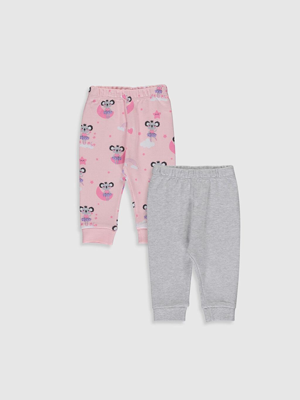 Gri Kız Bebek Pijama Alt 2'li 0S4693Z1 LC Waikiki