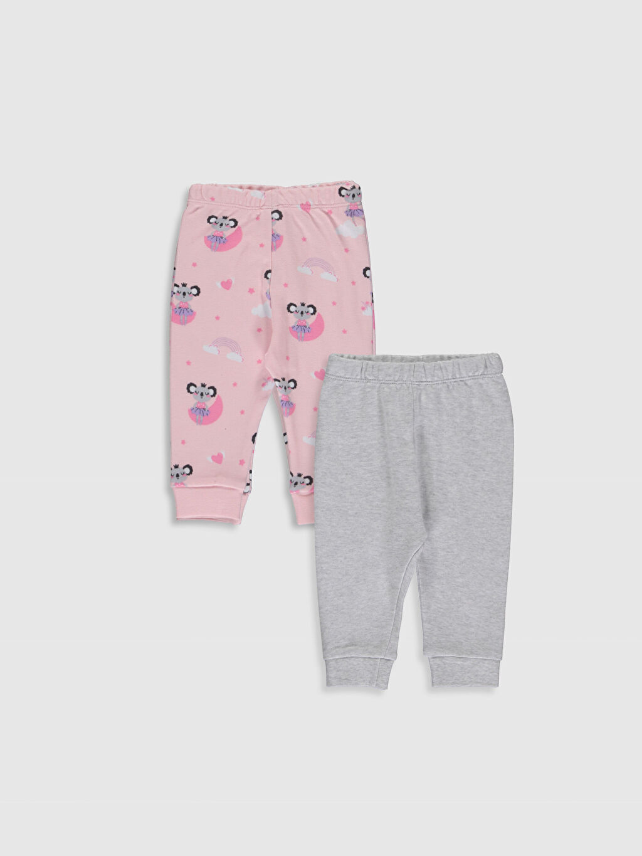 %100 Pamuk Pijamalar Standart Kız Bebek Pijama Alt 2'li