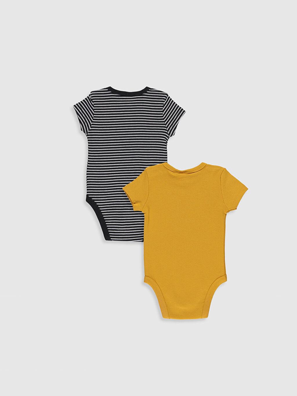%100 Pamuk  Erkek Bebek Baskılı Çıtçıtlı Body 2'li