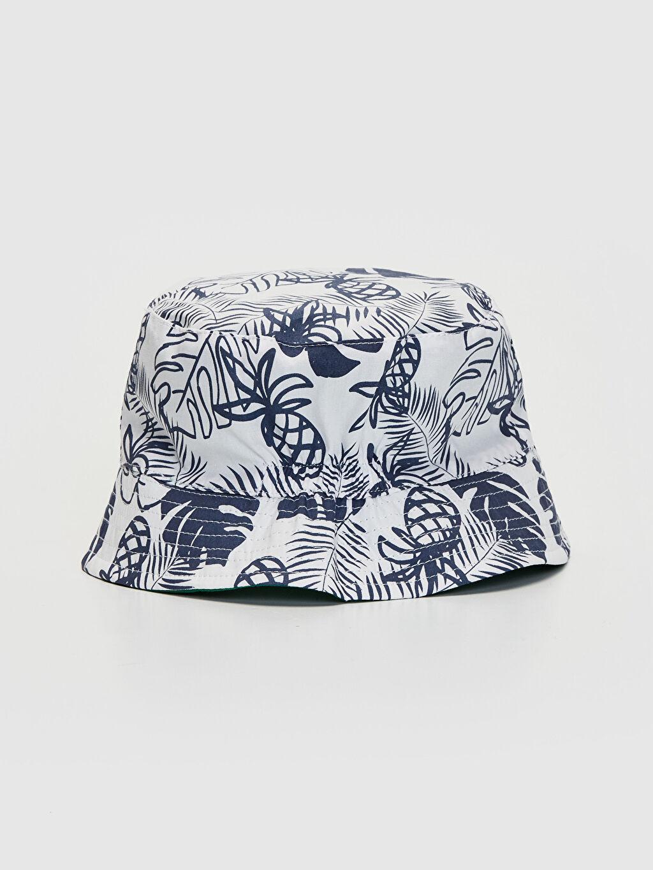 %100 Pamuk %100 Pamuk  Erkek Bebek Desenli Kova Şapka