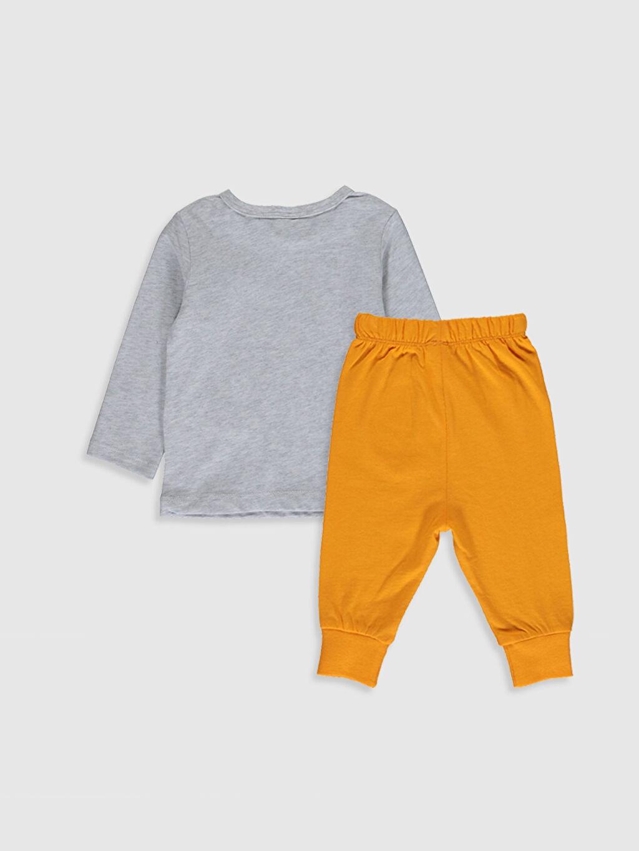 %100 Pamuk Standart Pijamalar Erkek Bebek Baskılı Pijama Takımı