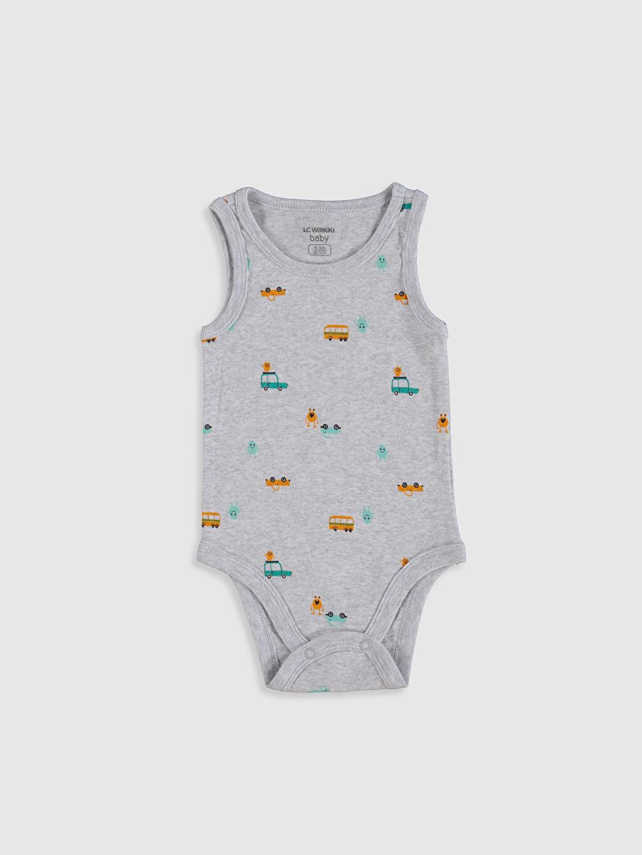 Erkek Bebek Desenli Çıtçıtlı Body 2'li