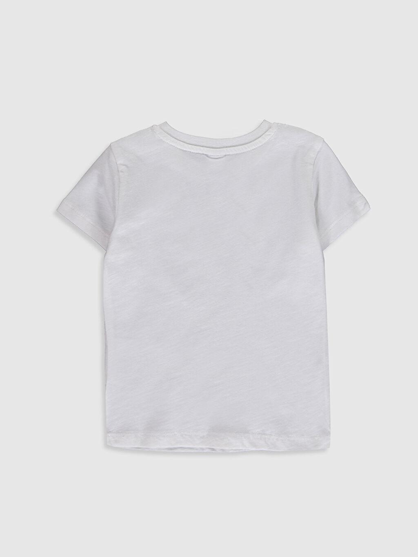 %100 Pamuk Normal Baskılı Kısa Kol Tişört Bisiklet Yaka Erkek Bebek Baskılı Tişört