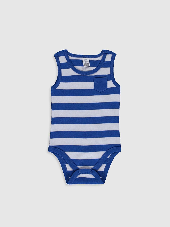 Erkek Bebek Erkek Bebek Çizgili Çıtçıtlı Body 2'li