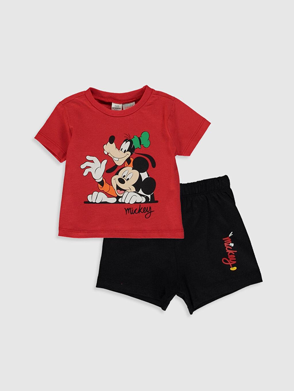 Kırmızı Erkek Bebek Disney Baskılı Pijama Takımı 0S5021Z1 LC Waikiki