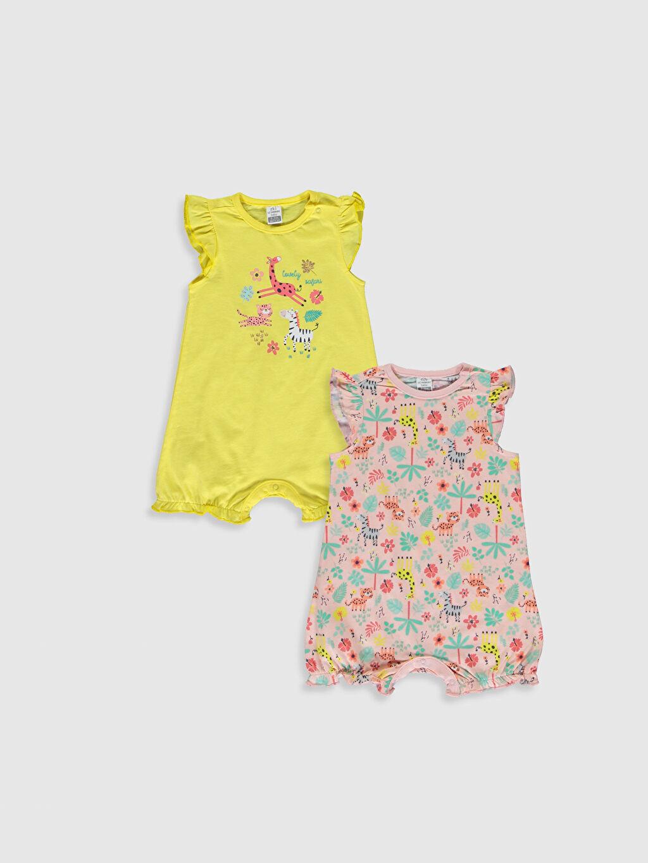 Sarı Kız Bebek Desenli Tulum 2'li 0S5164Z1 LC Waikiki