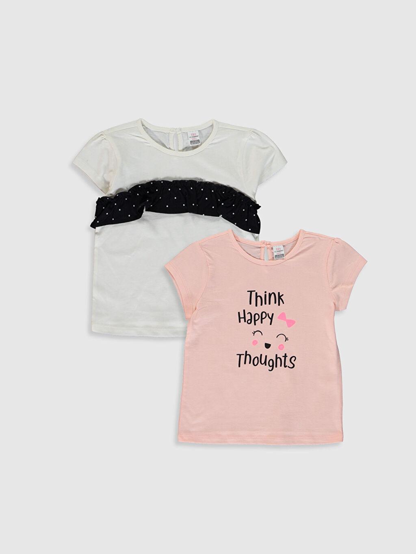 Pembe Kız Bebek Baskılı Pamuklu Tişört 2'li  0S5245Z1 LC Waikiki