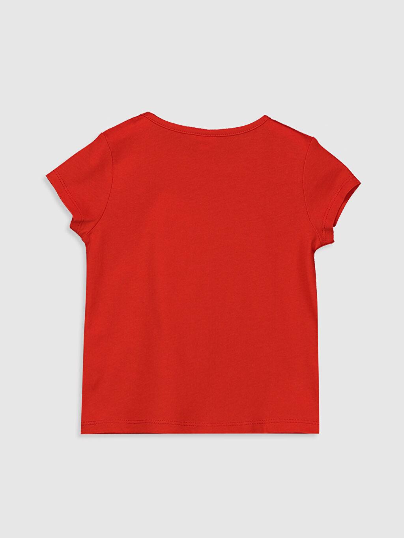 %100 Pamuk Baskılı Standart Bisiklet Yaka Kısa Kol Tişört Kız Bebek Baskılı Pamuklu Tişört