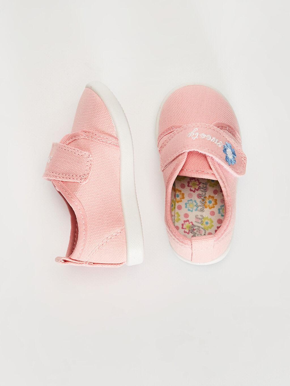 %0 Tekstil malzemeleri (%100 poliester)  Kız Bebek Pamuk Astarlı Yürüme Öncesi Ayakkabı