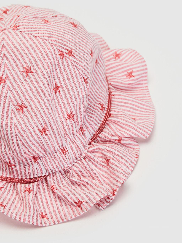 Kız Bebek Kız Bebek Desenli Şapka