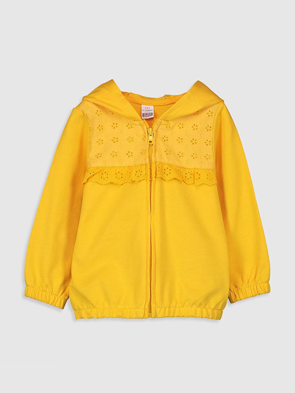 Sarı Kız Bebek Kapüşonlu Sweatshirt 0S5469Z1 LC Waikiki