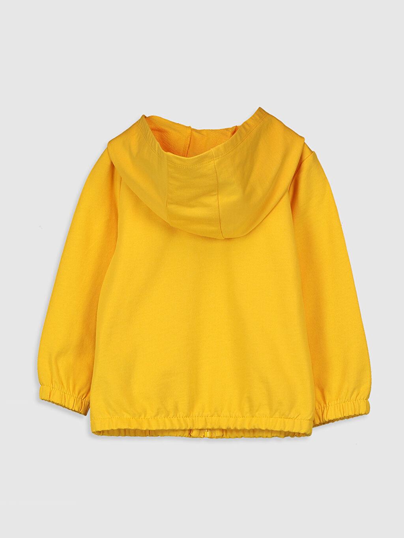 %100 Pamuk  Kız Bebek Kapüşonlu Sweatshirt