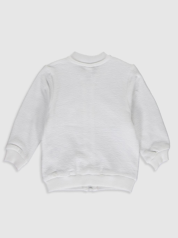 %87 Pamuk %13 Polyester  Kız Bebek Fermuarlı Sweatshirt