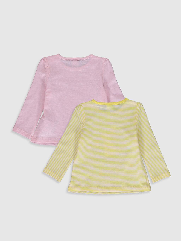 %100 Pamuk  Kız Bebek Baskılı Pamuklu Tişört