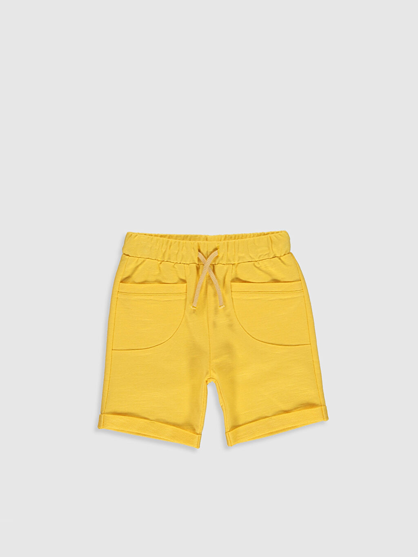 Sarı Erkek Bebek Bermuda Şort 0S5875Z1 LC Waikiki