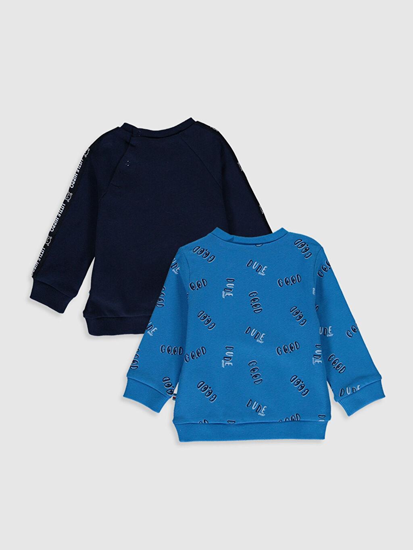 %97 Pamuk %3 Elastan  Erkek Bebek Baskılı Pamuklu Tişört 2'li