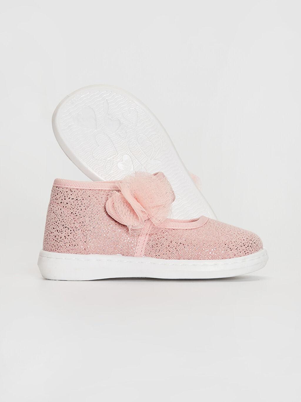Kız Bebek Kız Bebek Çiçek Detaylı Babet Ayakkabı